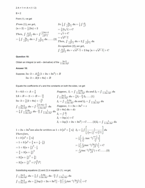 Ncert Solutions For Class 12 Maths Chapter 7 Ex 7.3