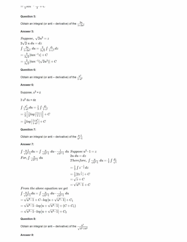 Ncert Solutions For Class 12 Maths Chapter 7 Ex 7.4