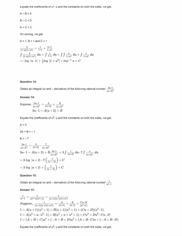 Ncert Solutions For Class 12 Maths Chapter 7 Ex 7.5