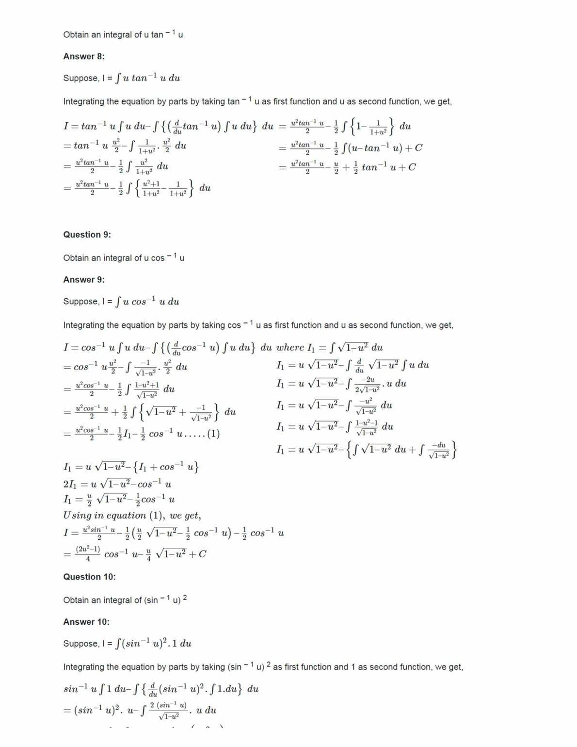 Ncert Solutions For Class 12 Maths Chapter 7 Ex 7.6