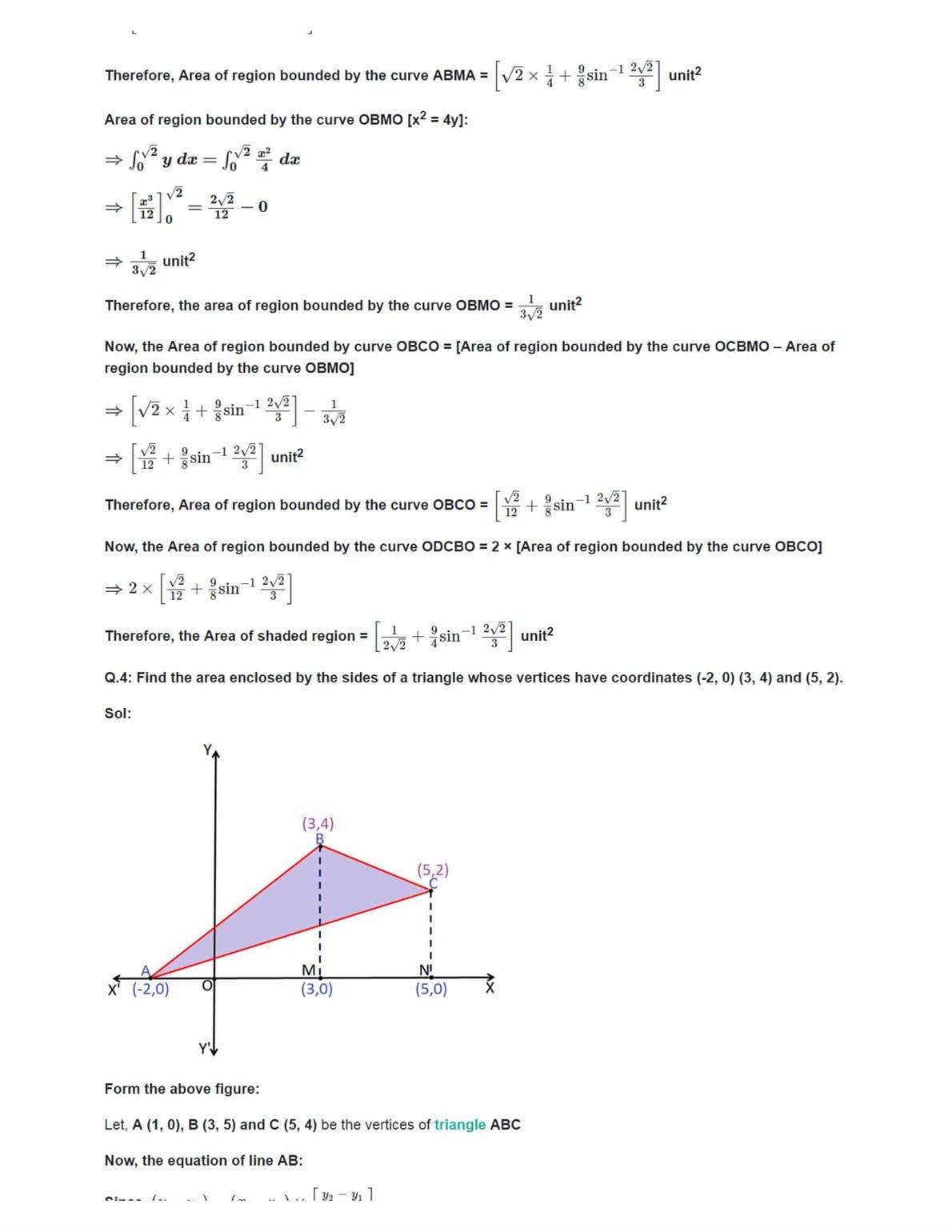 Ncert Solutions For Class 12 Maths Chapter 8 Ex 8.2