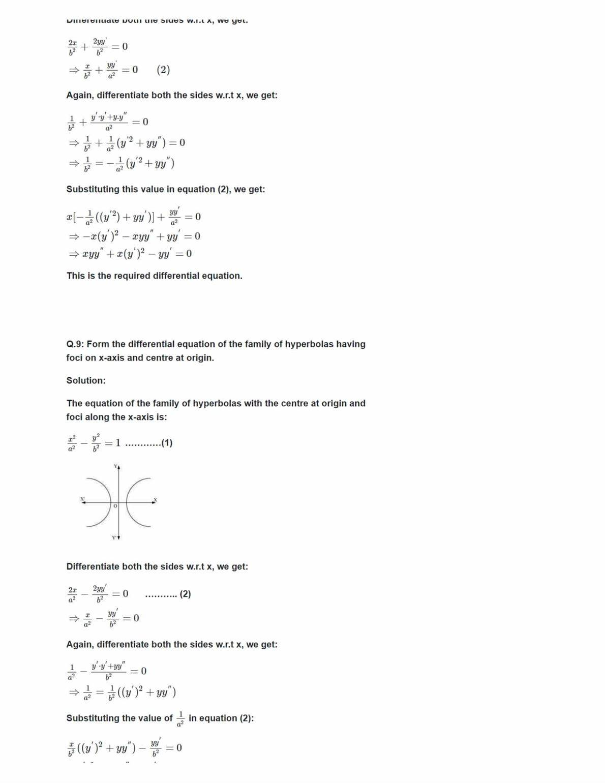Ncert Solutions For Class 12 Maths Chapter 9 Ex 9.3