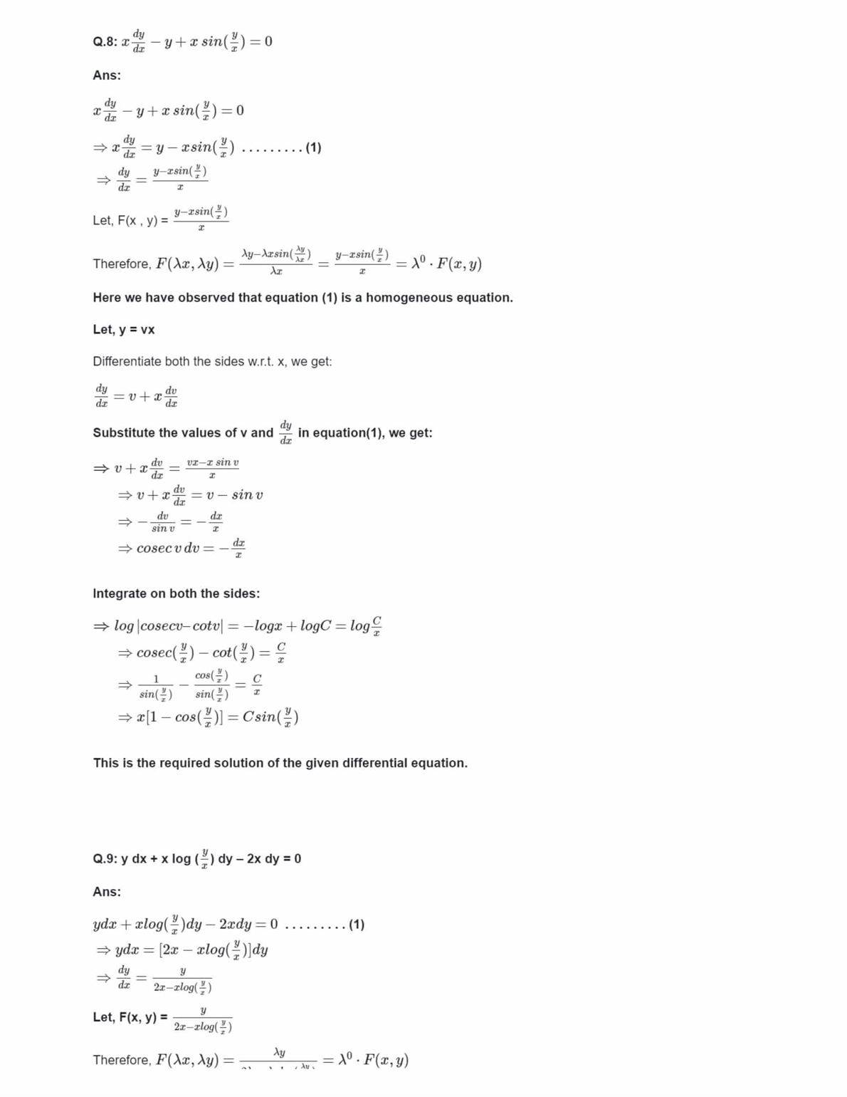 Ncert Solutions For Class 12 Maths Chapter 9 Ex 9.5