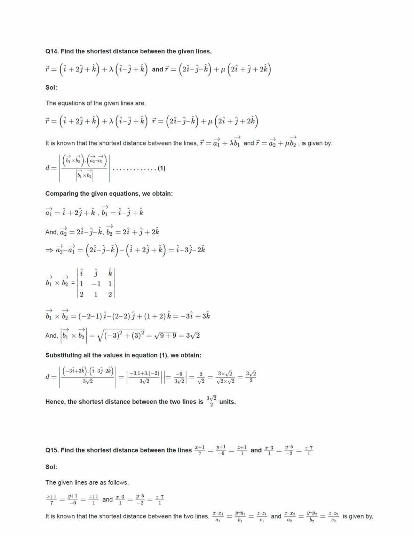 Ncert Solutions For Class 12 Maths Chapter 11.3 Ex 11.2