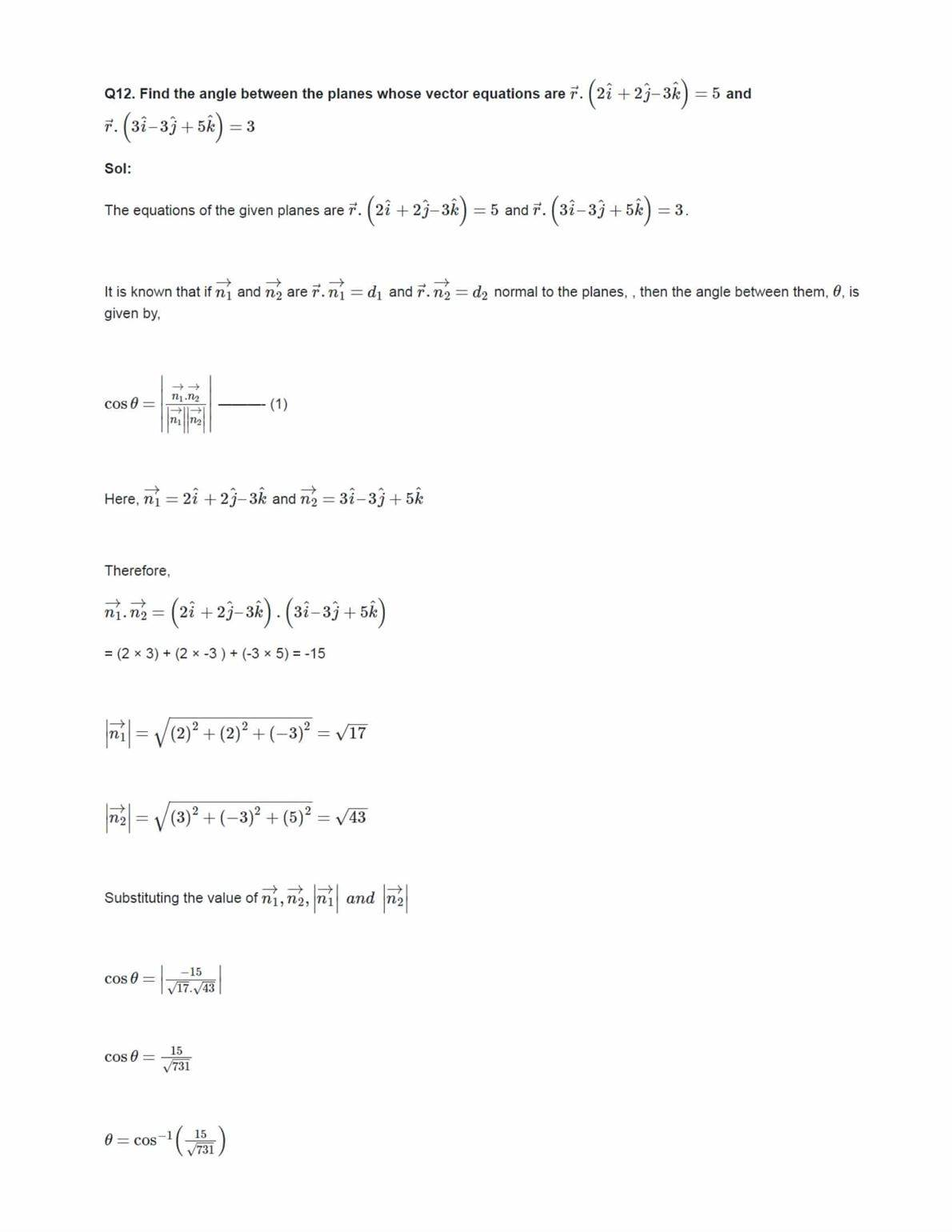 Ncert Solutions For Class 12 Maths Chapter 11.3 Ex 11.3