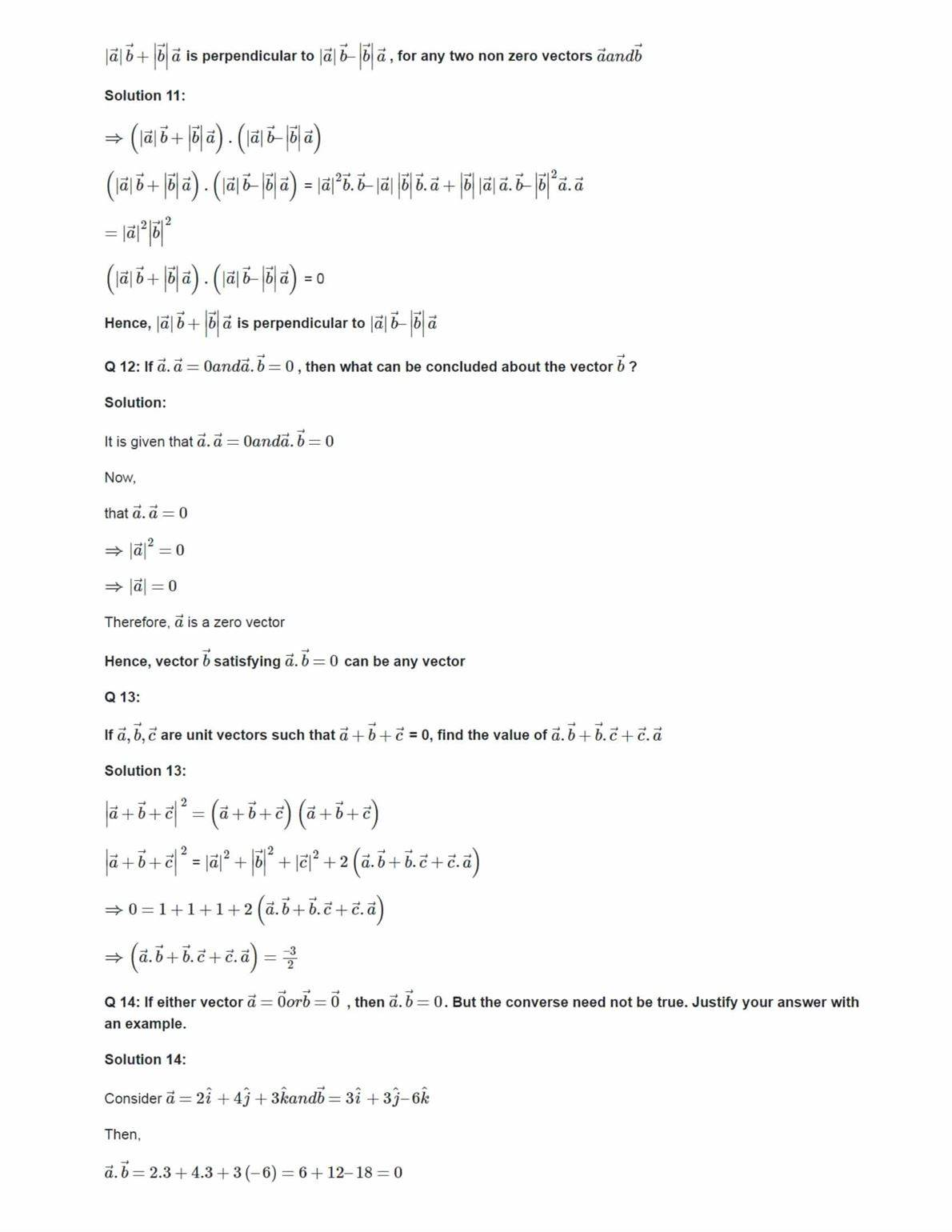 Ncert Solutions For Class 12 Maths Chapter 10 Ex 10.3