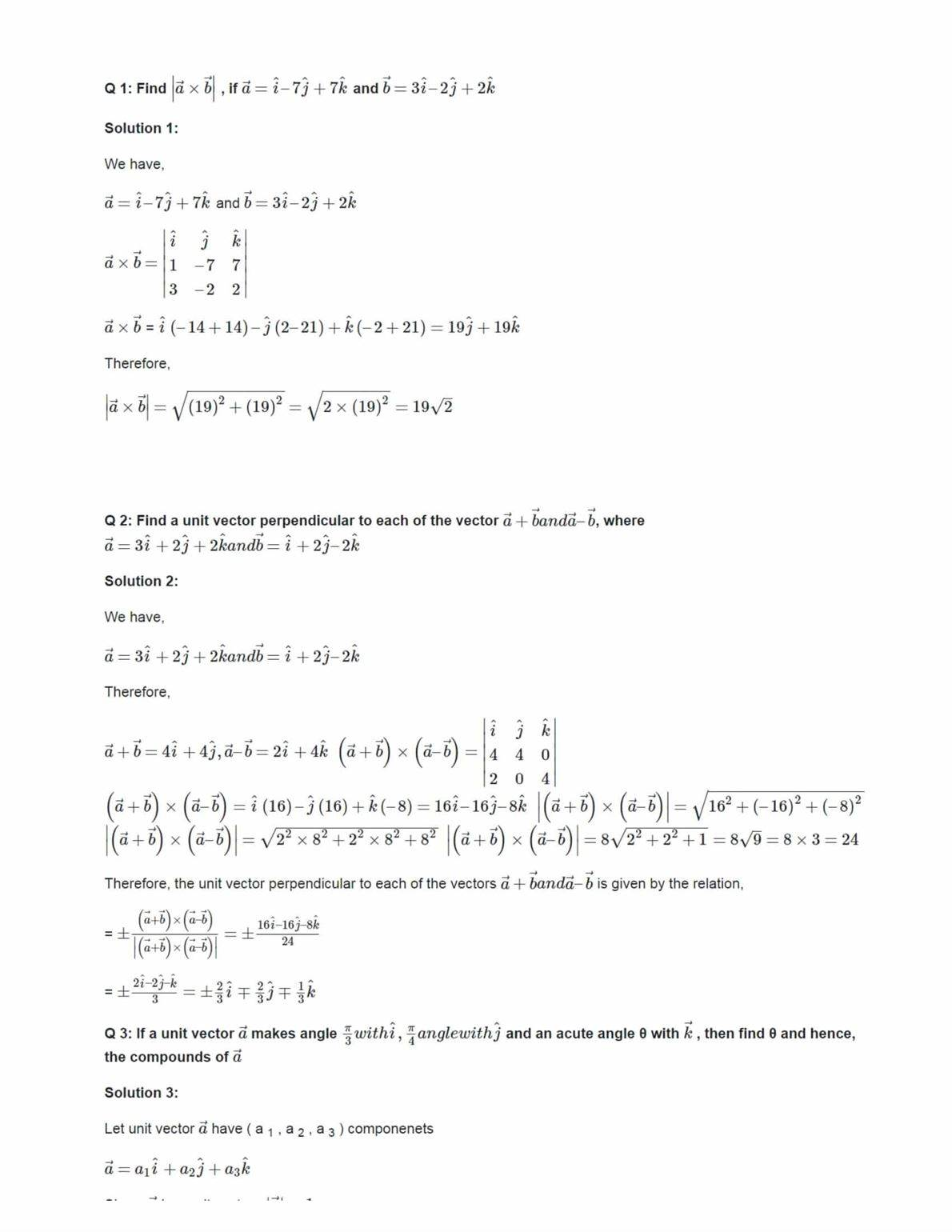 Ncert Solutions For Class 12 Maths Chapter 10 Ex 10.4