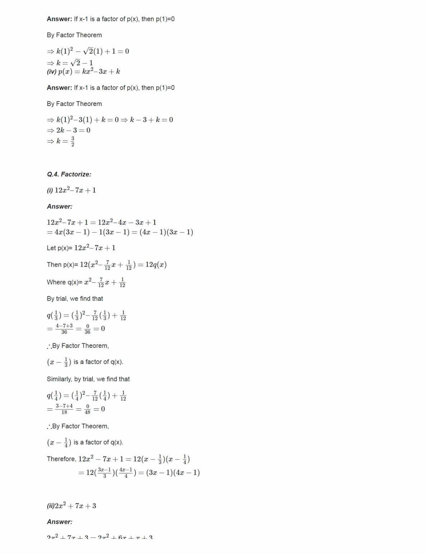 Ncert Solutions For Class 9 Maths Chapter 2 Ex 2.4