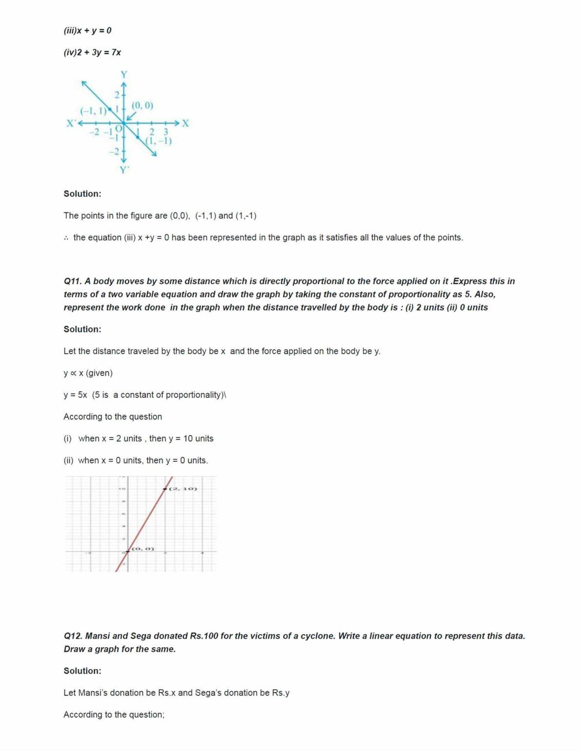 Ncert Solutions For Class 9 Maths Chapter 4 Ex 4.1
