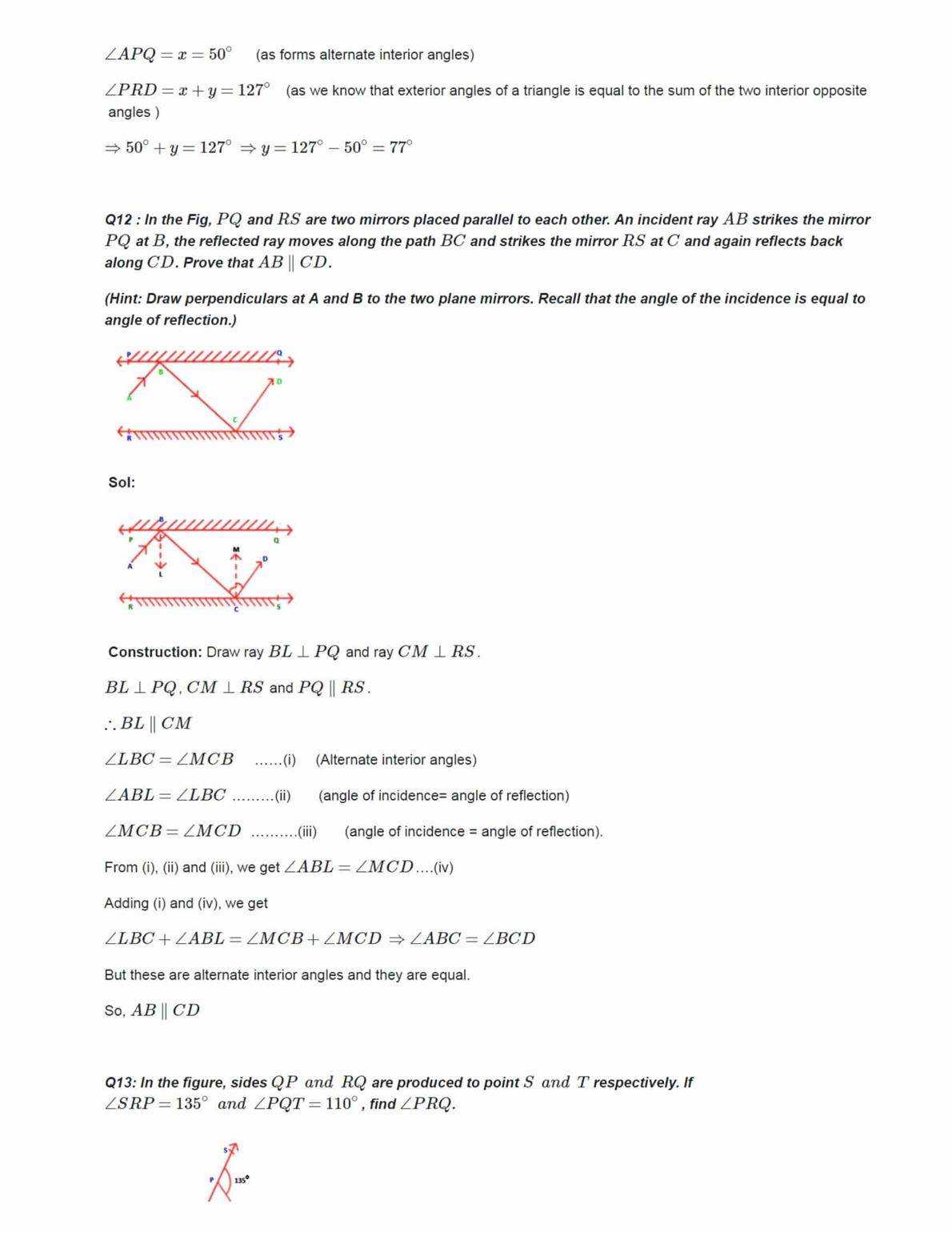 Ncert Solutions For Class 9 Maths Chapter 6 Ex 6.1
