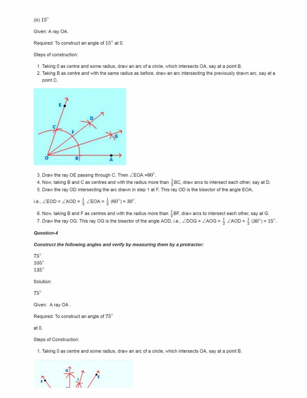 Ncert Solutions For Class 9 Maths Chapter 11 Ex 11.1