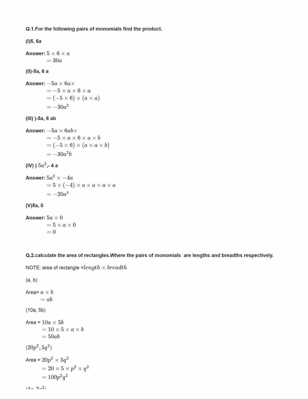 Ncert Solutions For Class 8 Maths Chapter 9 Ex 9.2