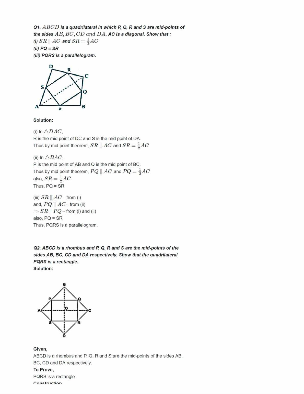 Ncert Solutions For Class 9 Maths Chapter 8 Ex 8.2