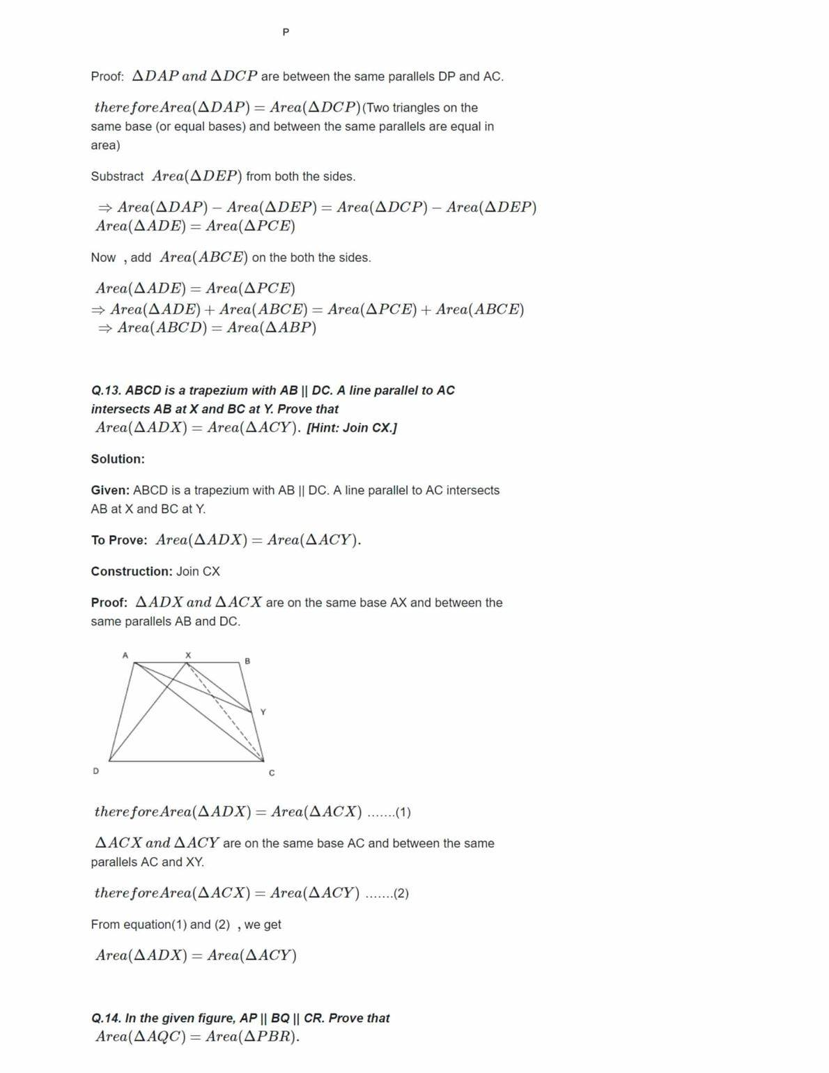 Ncert Solutions For Class 9 Maths Chapter 9 Ex 9.2