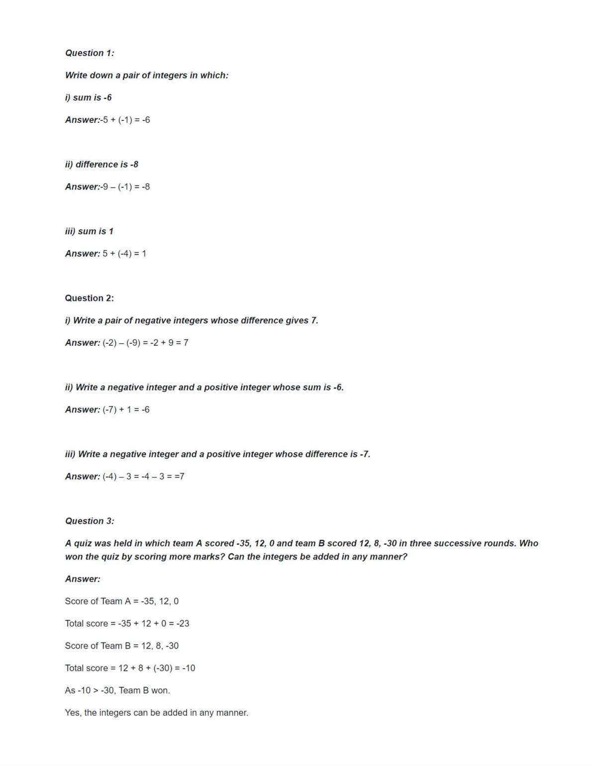 Ncert Solutions For Class 7 Maths Chapter 1 Ex 1.2
