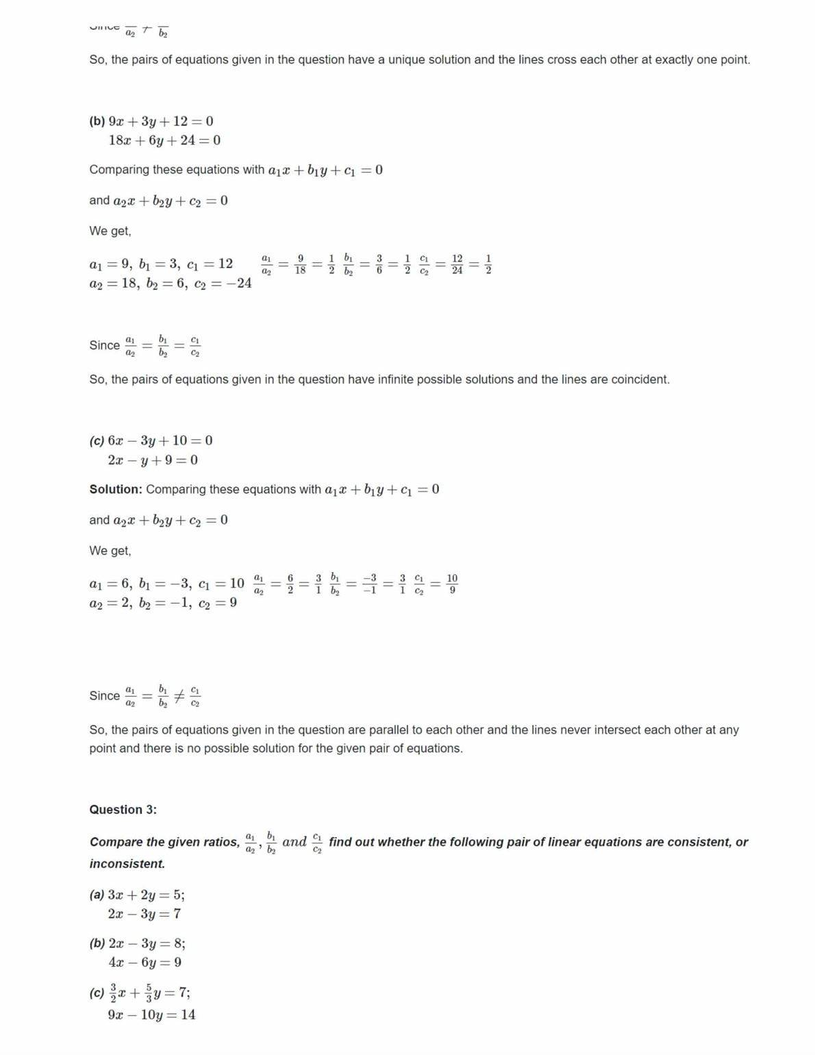Ncert Solutions For Class 10 Maths Chapter 3 Ex 3.2