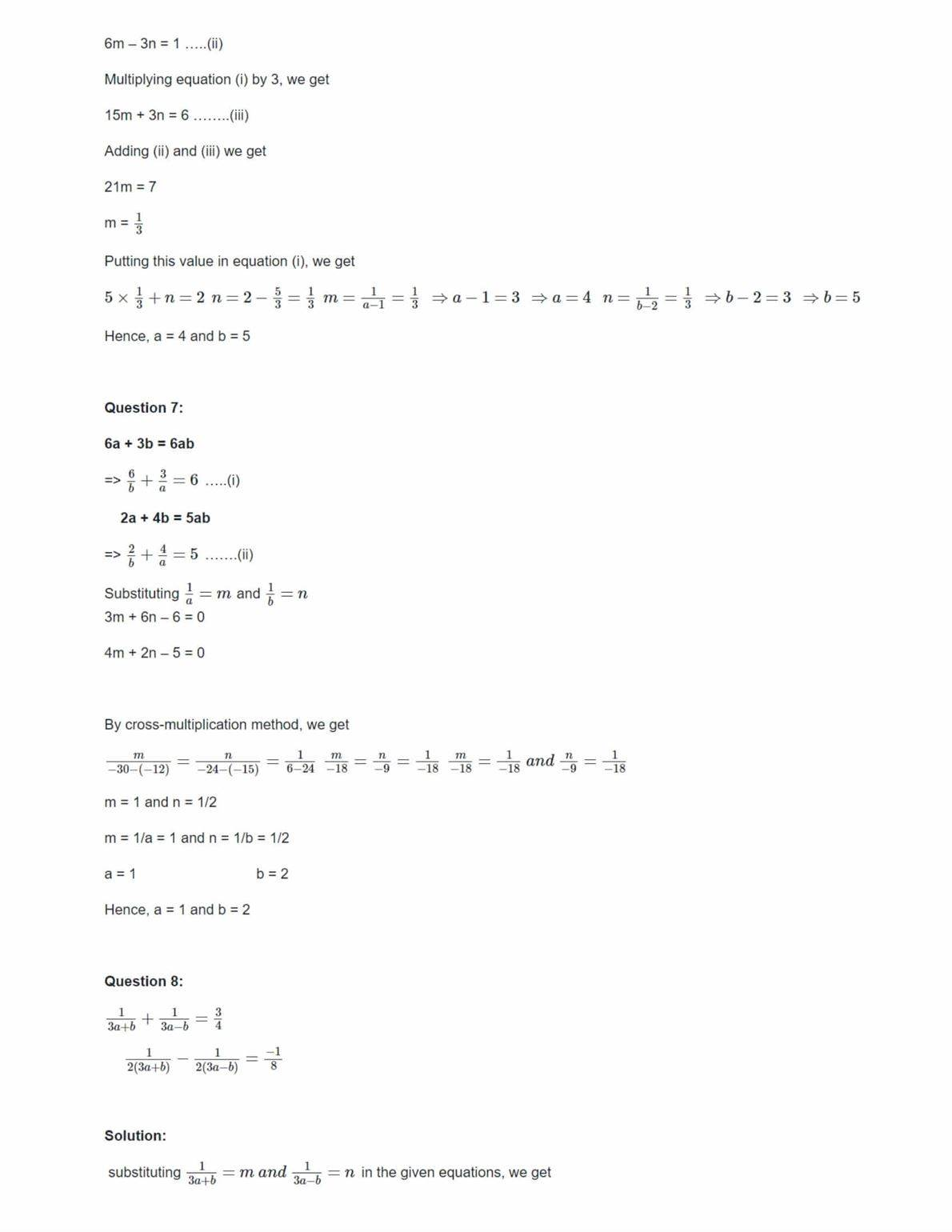 Ncert Solutions For Class 10 Maths Chapter 3 Ex 3.6