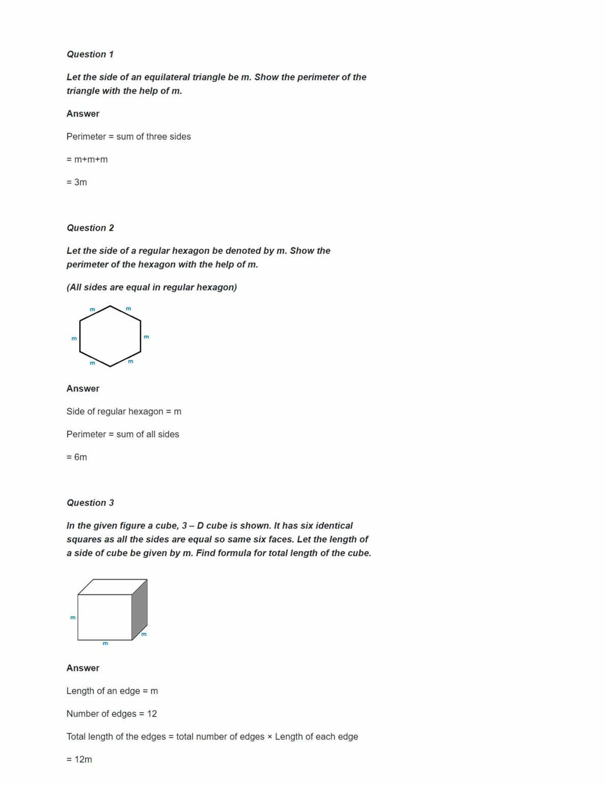 NCERT Solutions for Class 6 Maths Chapter 11 Algebra Ex 11 1