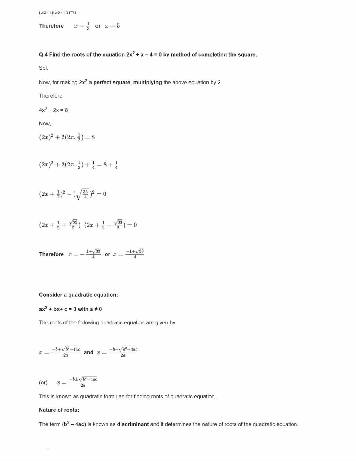 Ncert Solutions For Class 10 Maths Chapter 4 Ex 4.3
