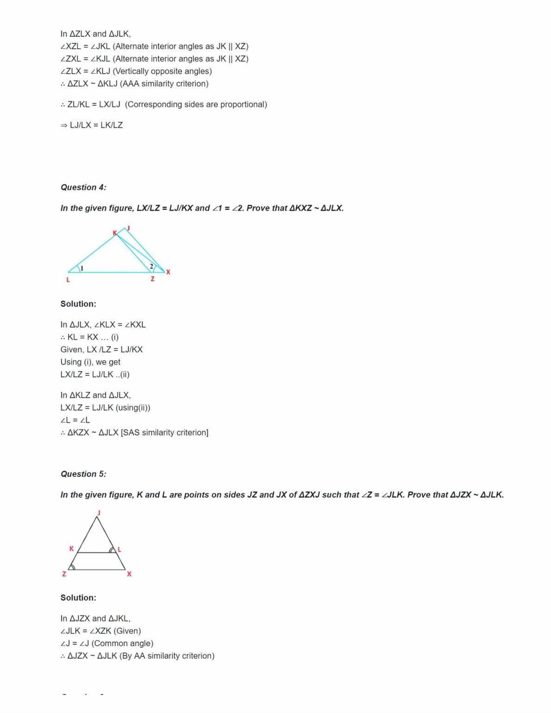 Ncert Solutions For Class 10 Maths Chapter 6 Ex 6.3