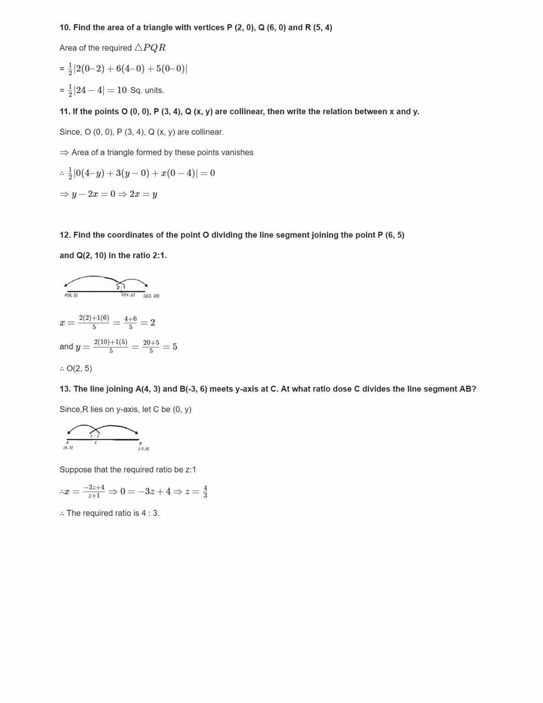 NCERT Solutions Class 10 Maths Coordinate Geometry