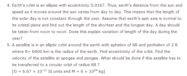 important questions class 11 physics chapter 7 gravitation 4