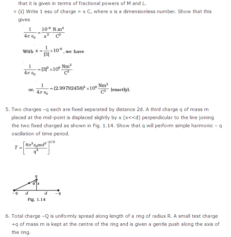 important questions class 12 physics chapter 1 electric charges fields 5