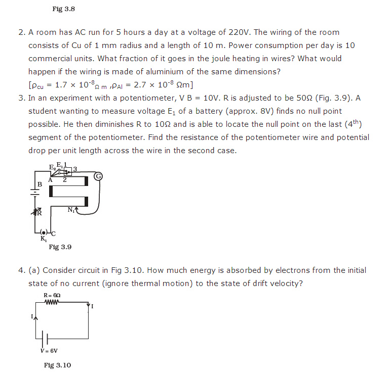 important questions class 12 physics chapter 3 current electricity 4