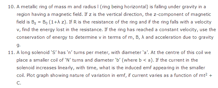 important questions class 12 physics chapter 6 electromagnetic induction 7