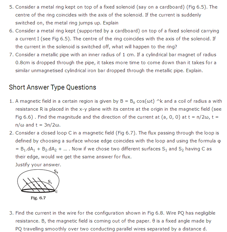 important questions class 12 physics chapter 6 electromagnetic induction 2