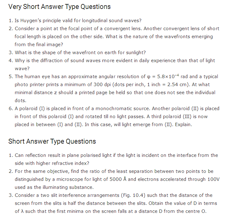 Important Questions For Class 12 Physics Ch 9 Ray Optics And Optical Instruments