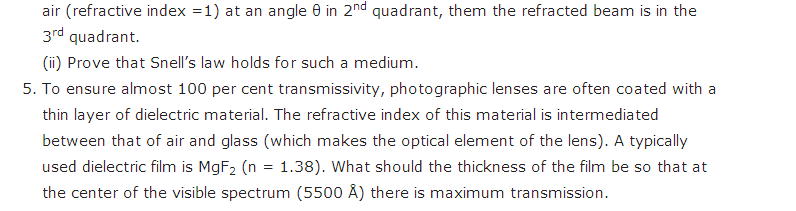 important questions class 12 physics chapter 9 ray optics optical instruments 4