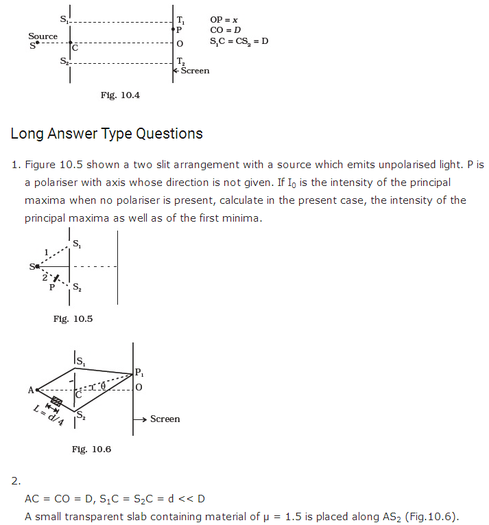 important questions class 12 physics chapter 10 wave optics 2