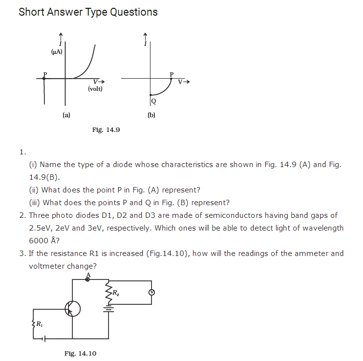 Important Questions For Class 12 Physics Chapter 14 Semiconductor Electronics Materials Devices And Simple Circuit