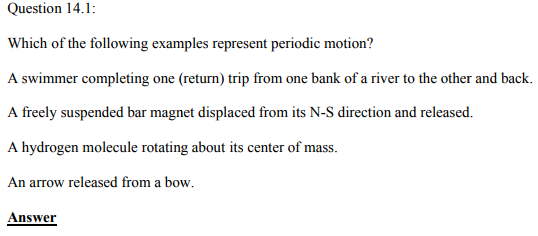 Physics Numericals Class 11 Chapter 14 1