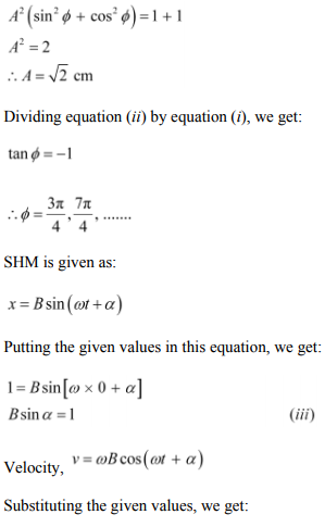 Physics Numericals Class 11 Chapter 14 22