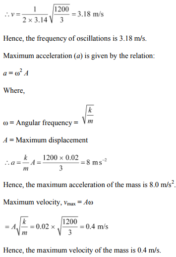 Physics Numericals Class 11 Chapter 14 30