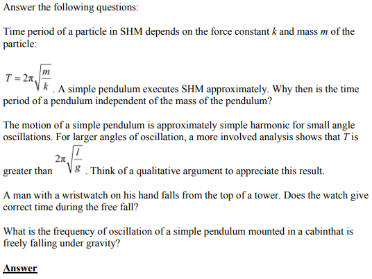 Physics Numericals Class 11 Chapter 14 61
