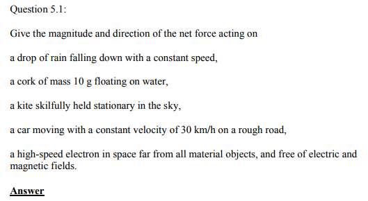 Physics Numericals Class 11 Chapter 5 1