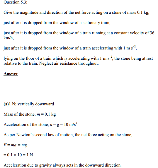 Physics Numericals Class 11 Chapter 5 5