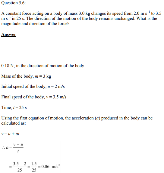 Physics Numericals Class 11 Chapter 5 13