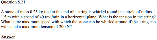 Physics Numericals Class 11 Chapter 5 60