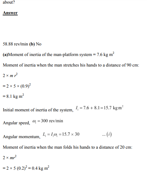Physics Numericals Class 11 Chapter 7 100