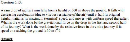 Physics Numericals Class 11 Chapter 6 41
