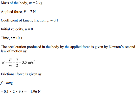 Physics Numericals Class 11 Chapter 6 4