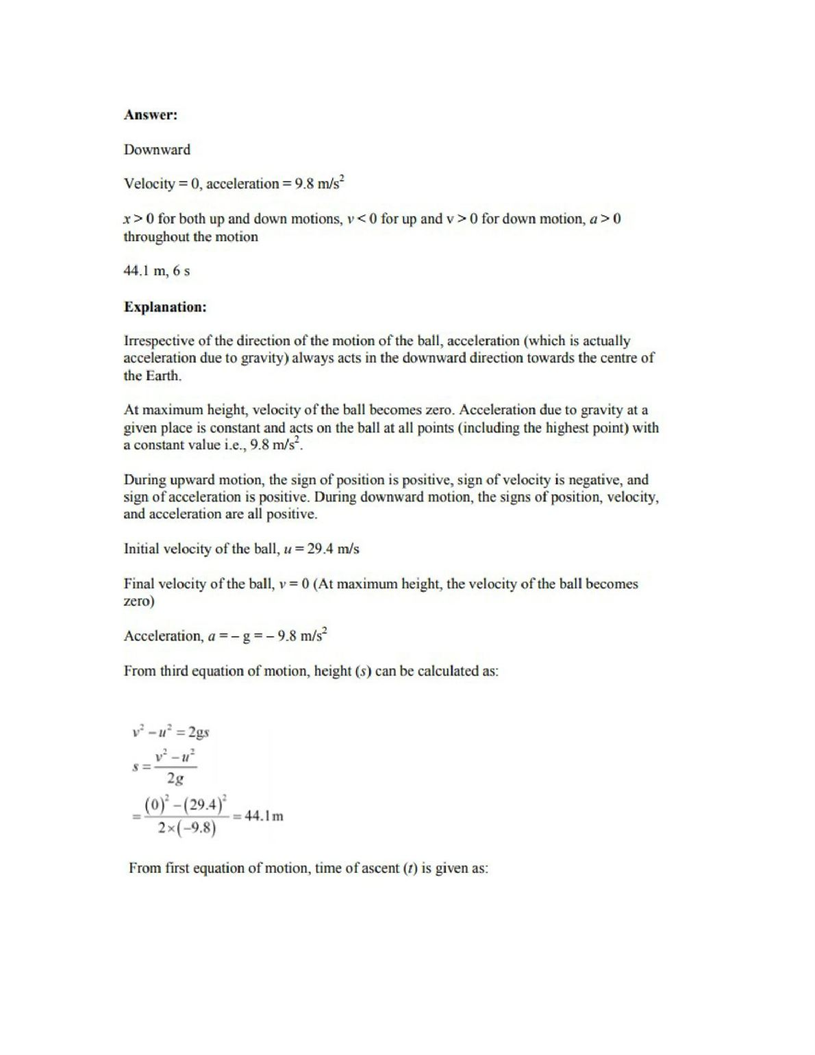 Physics Numericals Class 11 Chapter 3 12