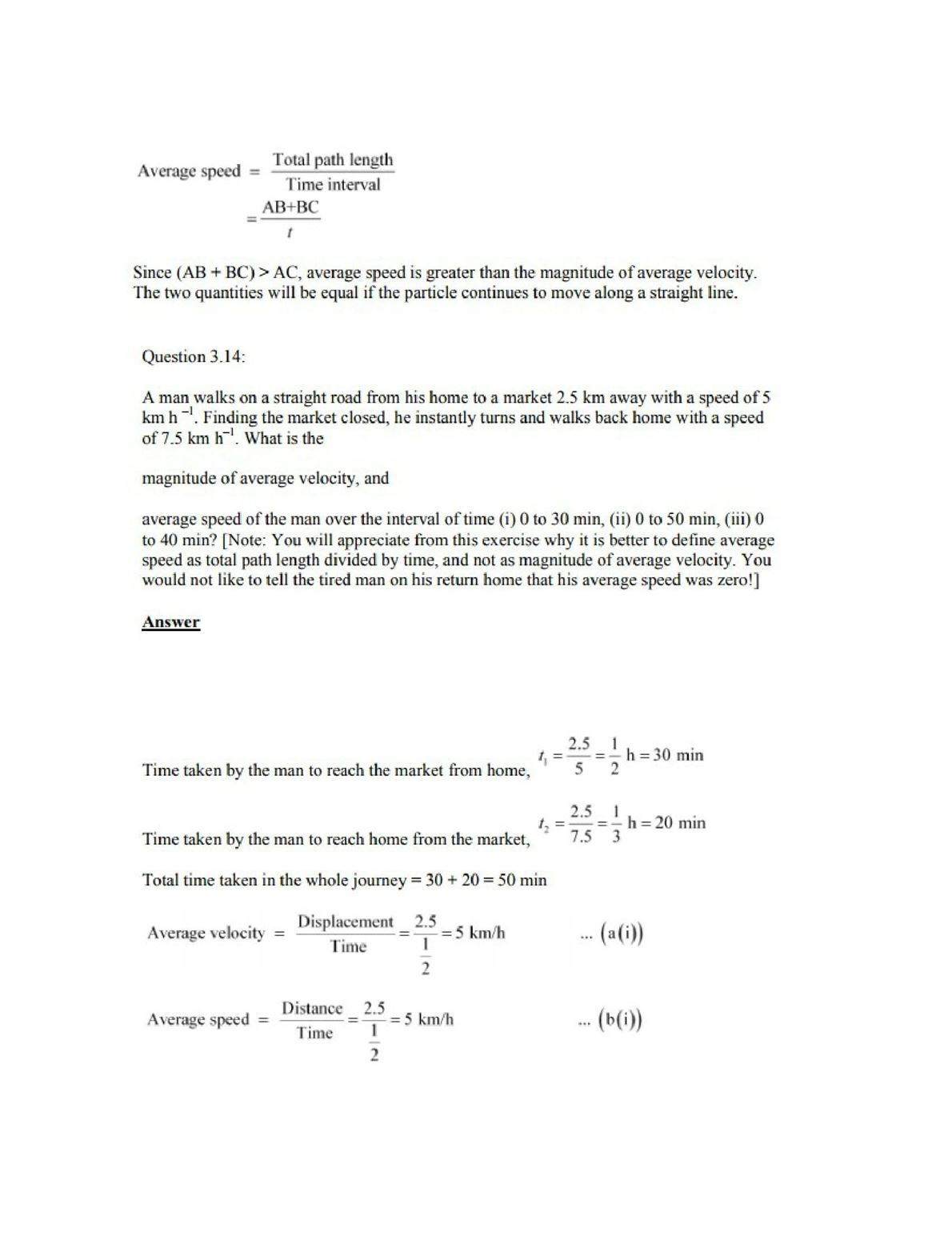 Physics Numericals Class 11 Chapter 3 18