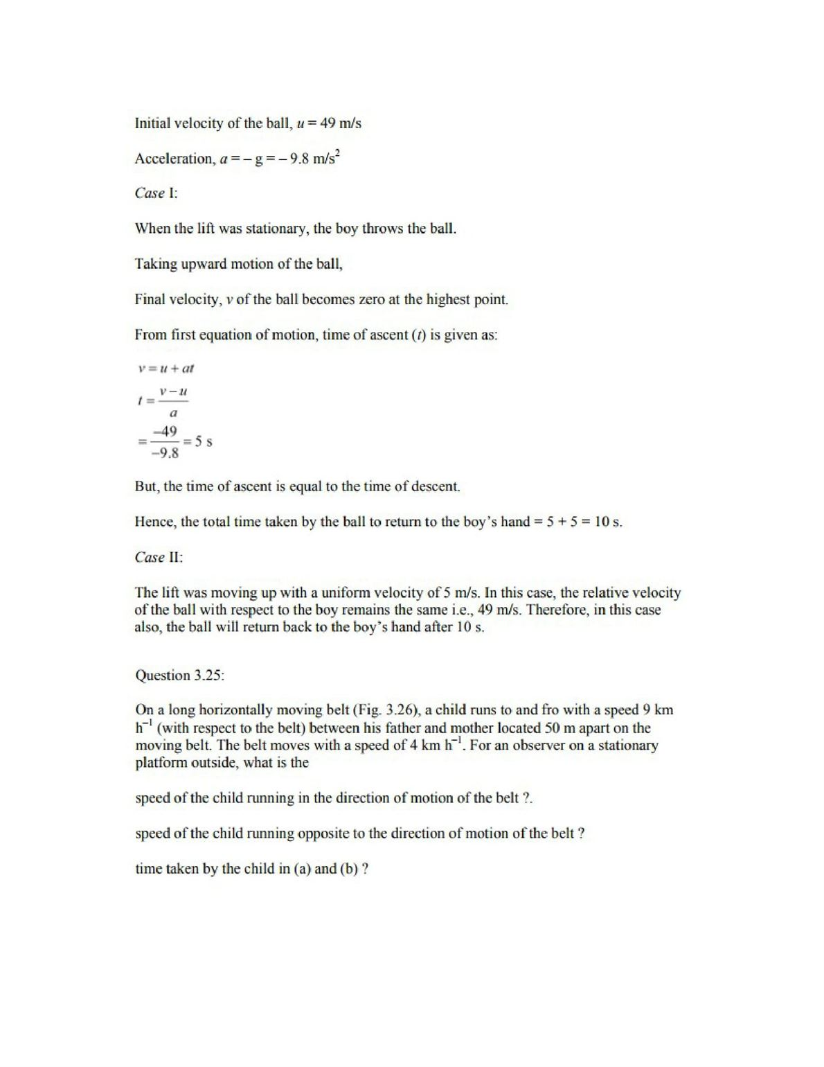Physics Numericals Class 11 Chapter 3 33