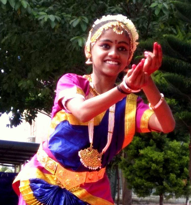 During her school dance program