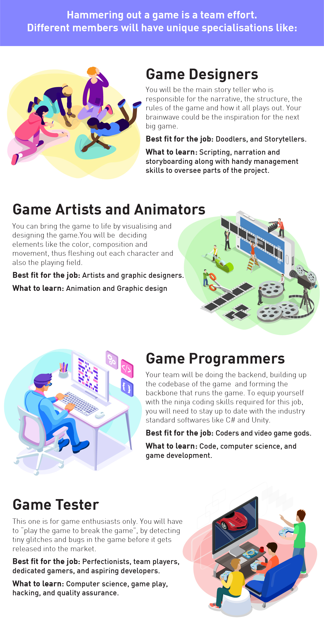 how to become a game developer, career in game development, gamer, jobs in gaming, colleges for gaming, what to study for game developement, future in game development, top companies in game development